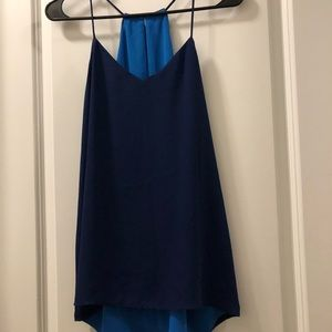 Navy and Light Blue reversible top from Express